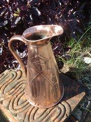 Arts & Crafts copper jug J S & S.