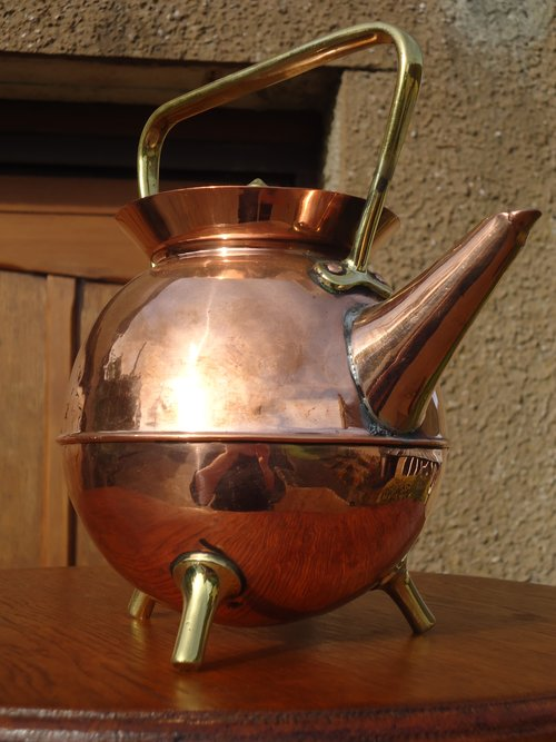Arts & Crafts copper kettle. Dresser