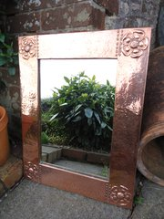 Arts & Crafts copper mirror. Liberty