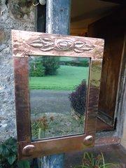 Arts & Crafts copper mirror - Liberty