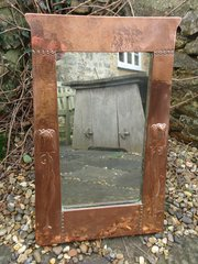 Arts & Crafts copper mirror for Liberty