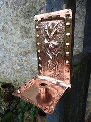 Arts & Crafts copper sconce