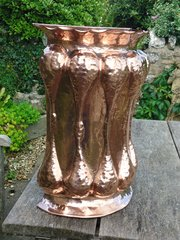 Arts & Crafts copper stick stand