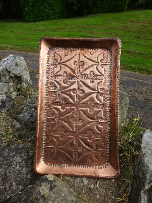 Arts & Crafts copper tray - John Pearson