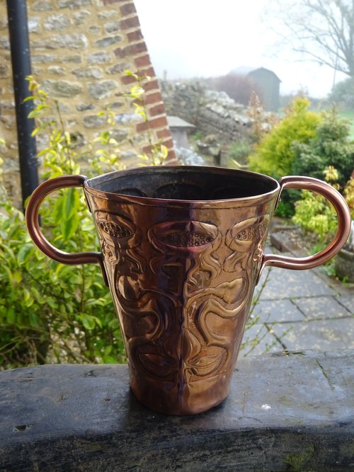 Arts & Crafts copper vase - Yattendon