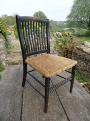 Arts & Crafts ebonised childs chair