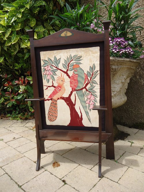 Arts & Crafts fire screen