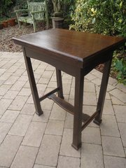 Arts & Crafts fold over card table. Liberty