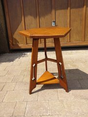 Arts & Crafts hexagonal table on a tripod base