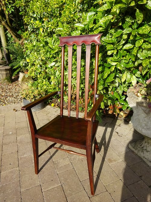 Arts & Crafts high back arm chair