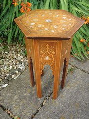 Arts & Crafts inlaid Moorish table