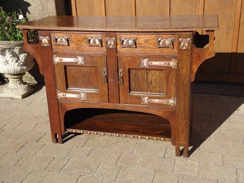 Arts & Crafts oak Kitchen dresser base