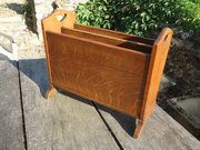 Arts & Crafts oak Magazine rack. Liberty