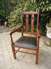 Arts & Crafts oak armchair - Wylie & Lochhead