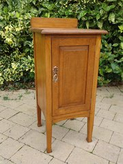Arts & Crafts oak bedside cabinet