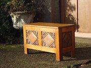 Arts & Crafts oak blanket box  - Yattendon?