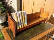 Arts & Crafts oak book stand.