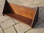 Arts & Crafts oak book trough