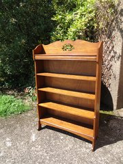 Arts & Crafts oak waterfall  bookcase