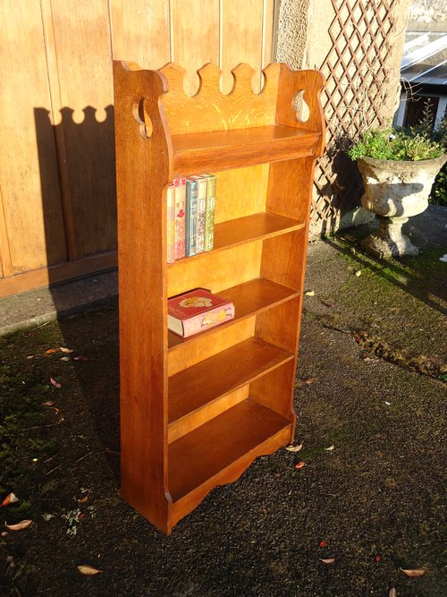 Arts & Crafts oak bookcase