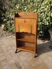 Arts & Crafts oak bureau bookcase