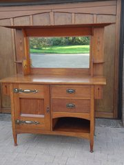 Arts & Crafts oak dresser - Harris Lebus
