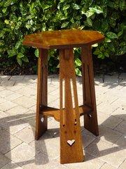 Arts & Crafts oak lamp table - Liberty