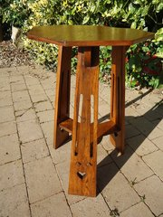 Arts & Crafts oak lamp table - Liberty