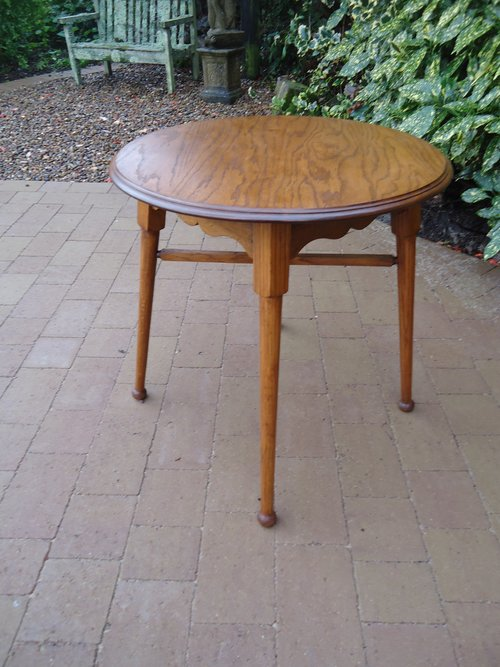 Arts & Crafts oak lamp table - William Birch