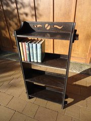 Arts & Crafts oak pegged bookcase