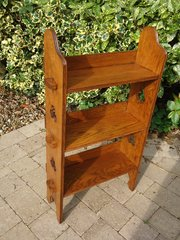Arts & Crafts oak pegged bookshelves for Liberty
