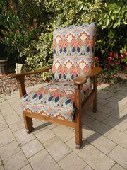 Arts & Crafts oak reclining chair for Liberty
