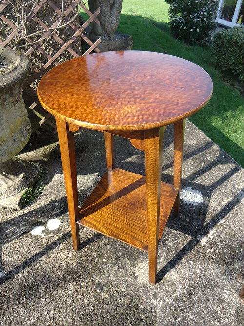 Antique arts crafts oak side table for Arts and crafts side table