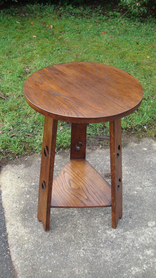 Red house antiques for Arts and crafts side table