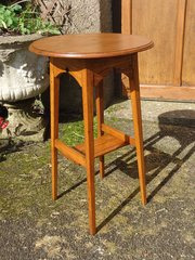 Arts & Crafts oak table or plant stand