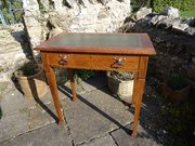 Arts & Crafts oak writing table