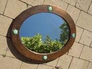 Arts & Crafts oval copper mirror for Liberty