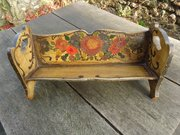Arts & Crafts painted pine book stand
