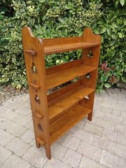 Arts & Crafts pegged oak bookcase for Liberty