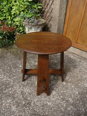 Arts & Crafts pegged oak table for Liberty