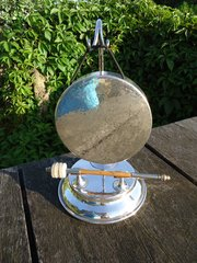 Arts & Crafts silver plated table gong