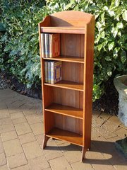 Arts & Crafts slim oak bookcase