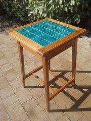 Arts & Crafts tiled top oak table