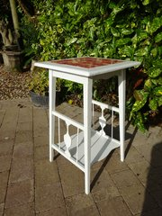 Arts & Crafts tiled top painted table