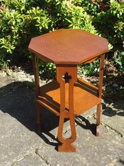 Arts & Crafts two tiered lamp table
