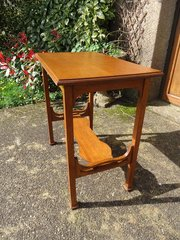 Arts & Crafts two tiered oak side table