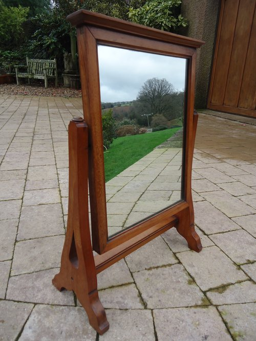 Arts & Crafts walnut toilet mirror