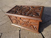Beautifully carved Arts & Crafts casket
