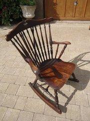 Charming Rustic oak rocking chair