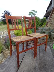 Delightful pair of Arts & Crafts bedroom chairs